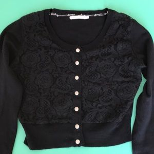 ONLY cute black cropped cardigan